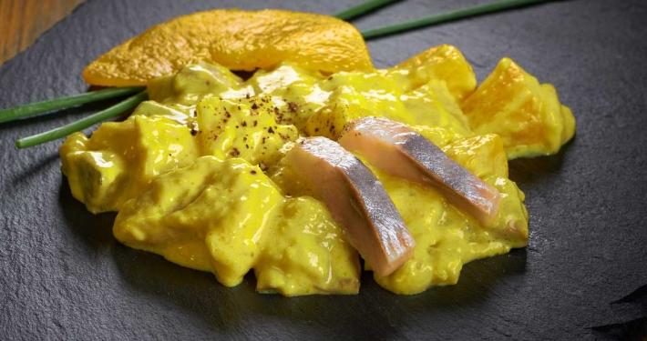 Elfin Rezept Matjessalat mit Currysauce